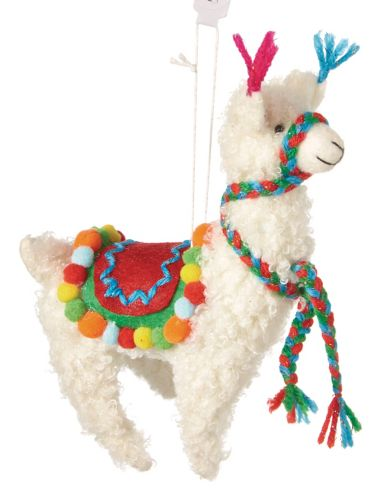 CANVAS Brights Collection Llama Ornament