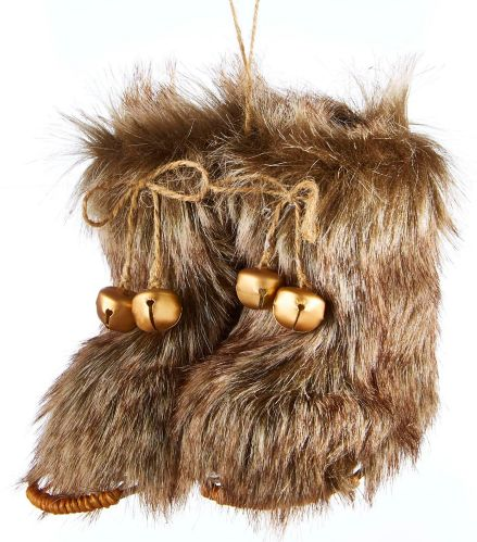 CANVAS Red Collection Fur Boots Ornament