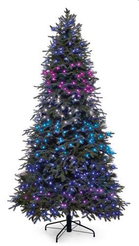 NOMA Advanced Aurora Music & Light Show Christmas Tree, 7.5-ft