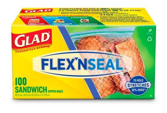 Glad Flex'n Seal™ Sandwich Zipper Bags, 100-ct Product image