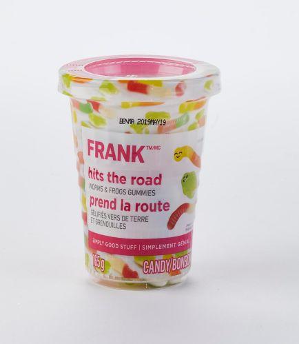 Vers et grenouilles en gélatine FRANK en tasse, 165g Image de l'article