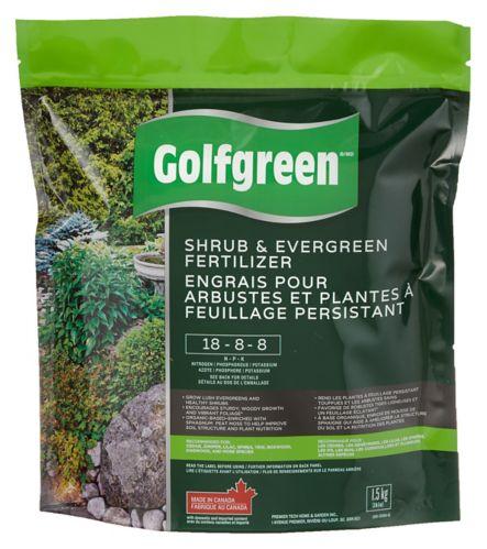 Engrais Golfgreen, arbustes et feuilles persistantes, 18-8-8, 1,5 kg Image de l'article