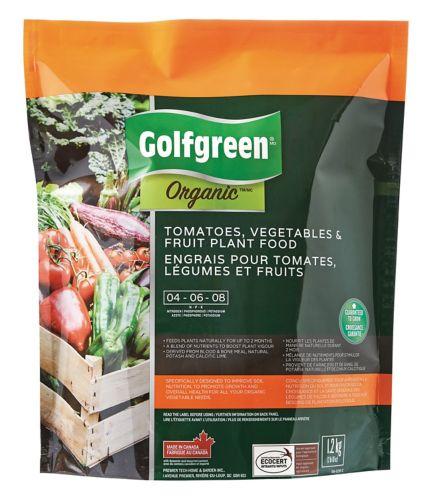 Engrais pour tomates, fruits et légumes Golfgreen Organic, 4-6-8, 1,2 kg Image de l'article