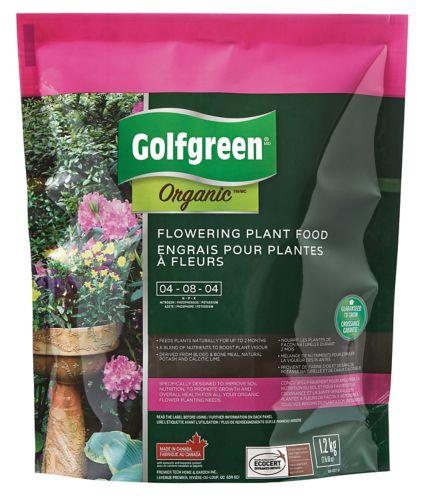 Engrais pour plantes à fleurs Golfgreen Organic, 4-6-4, 1,2 kg Image de l'article