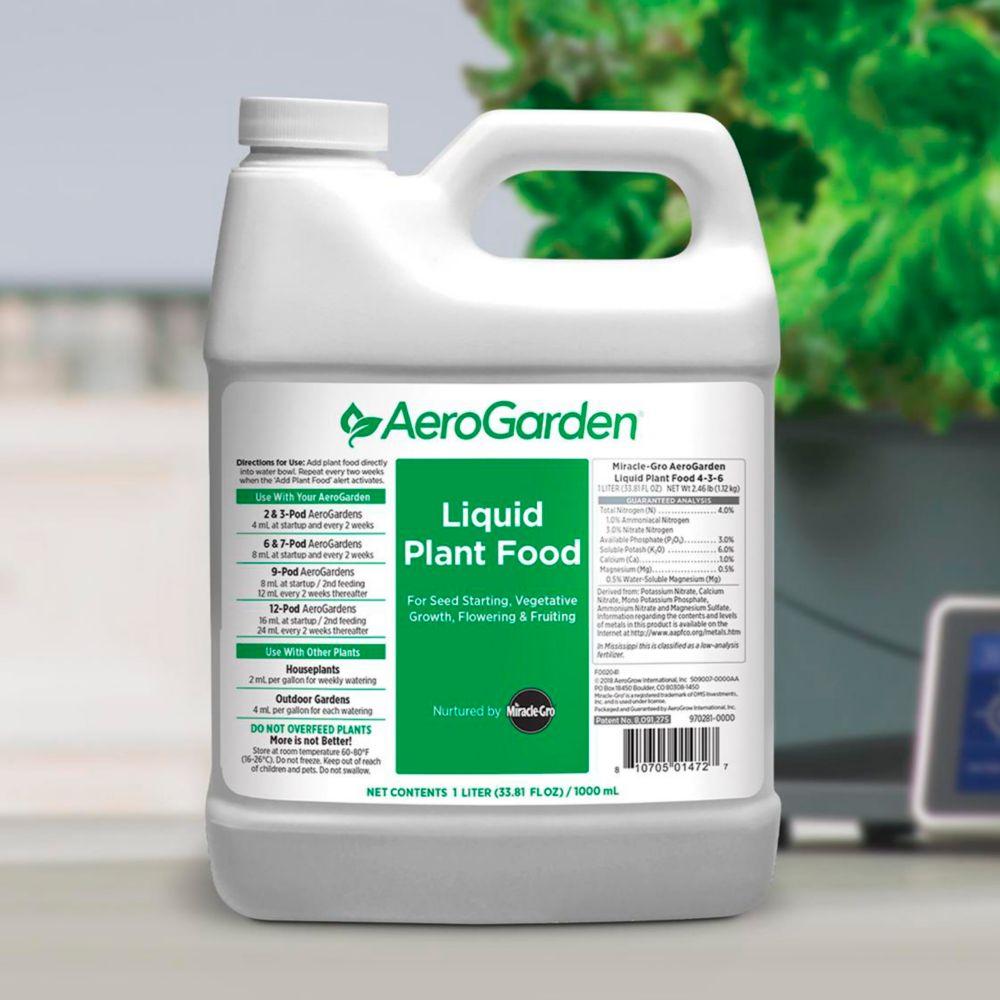 AeroGarden Liquid Plant Food Nutrients, 1-L