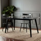CANVAS Walker Rectangular Dining Table, Black   CANVASnull