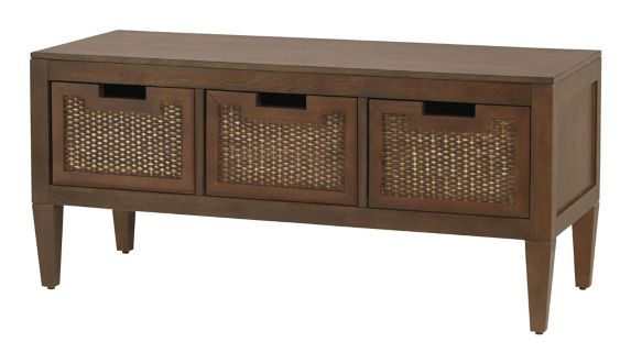 CANVAS Newport 3-Drawer Wicker Bench Product image