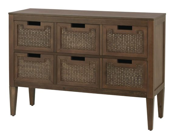 CANVAS Newport 6-Drawer Wicker Cabinet Product image