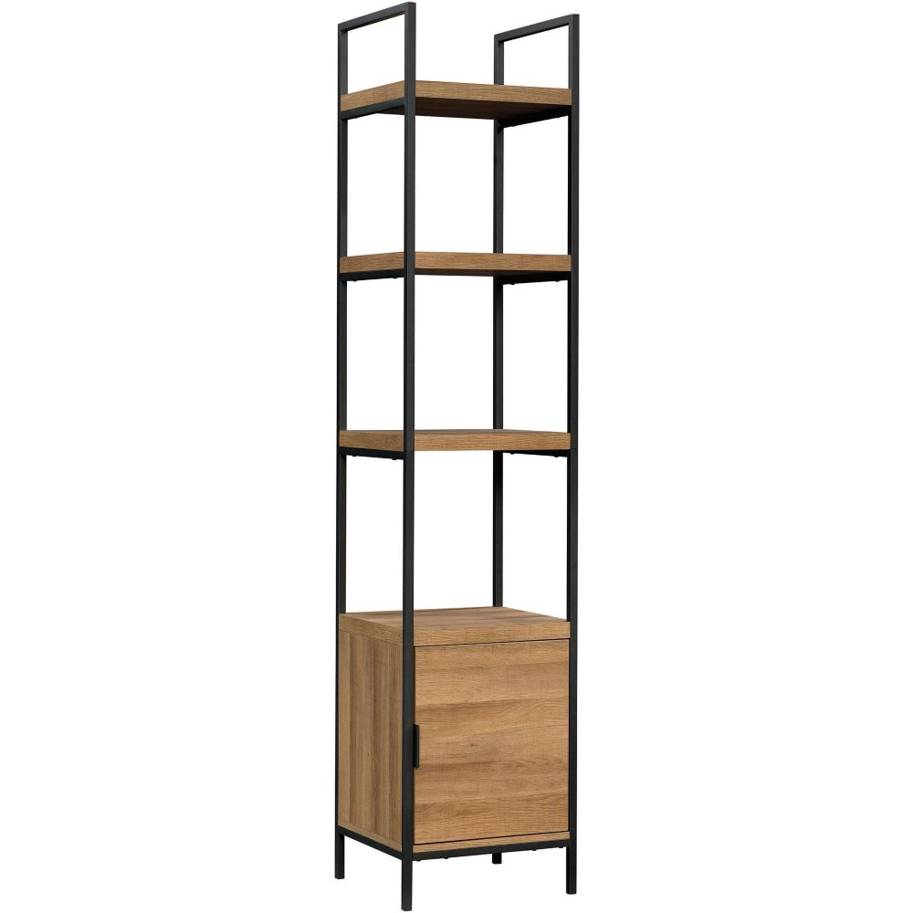 Canvas Robson Narrow 4-Shelf Bookcase with Cabinet