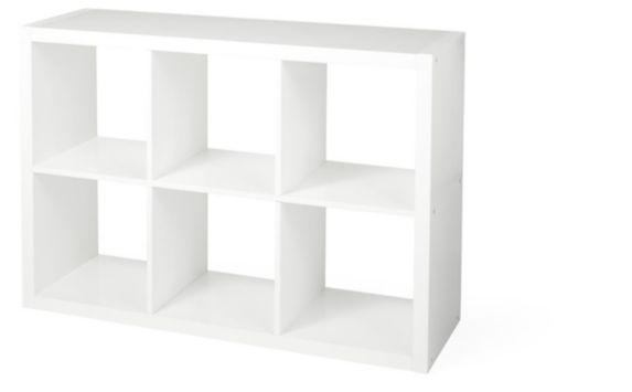 CANVAS Invermere 6-Cube Organizer, White Product image