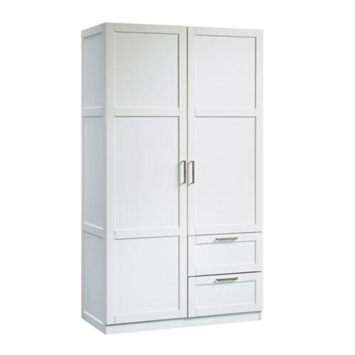Sauder 2-Door 2-Drawer Wardrobe, White Product image