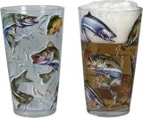 Fish Print Beer Glass Set, 16-oz, 4-pk