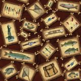 Serviettes de table, pêche, paq. 20