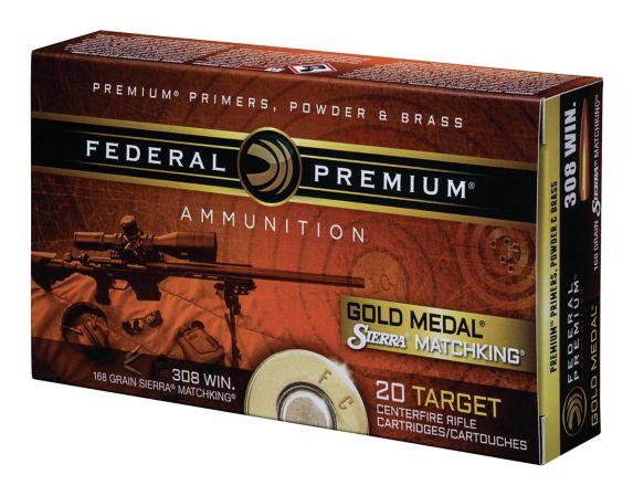Balle à pointe creuse Gold Medal Sierra Match King calibre .308, 168 grains Image de l'article