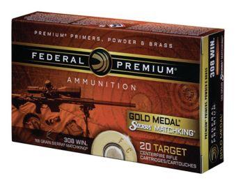 Federal Gold Medal 308 168 Grain Sierra Match King Boattail Hollow Point