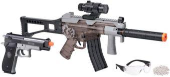 Crosman Ghost Affliction Airsoft Rifle & Pistol Kit