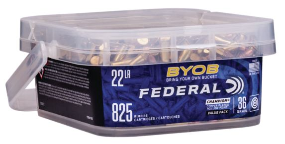 Federal 22LR 36 Grain Copper Point Hollow Point, 825 Bulk Pack Product image