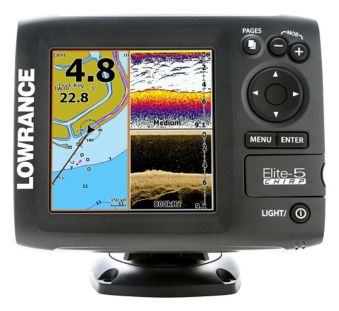 Lowrance Elite 5 Chirp Basemap 83/455 Fish Finder