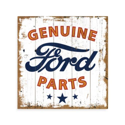 Plaque en bois, logo Ford Genuine Parts Image de l'article