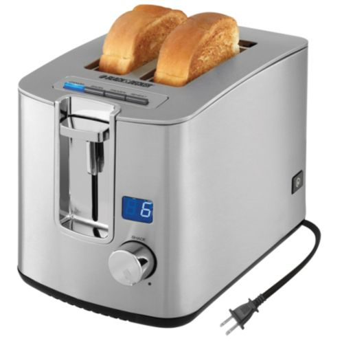 Black and Decker 2-Slice Stainless Steel Toaster Product image