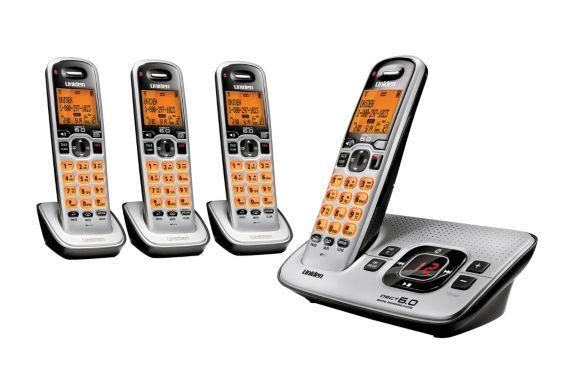 Téléphone sans fil Uniden à 4 combinés, répondeur numérique Image de l'article