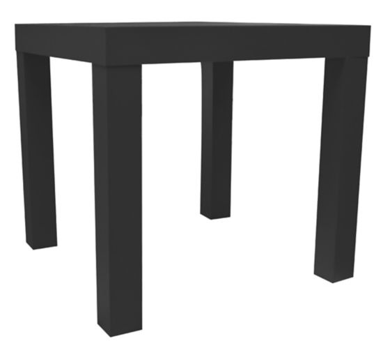 Urban Shop Square Side Table, Black Product image