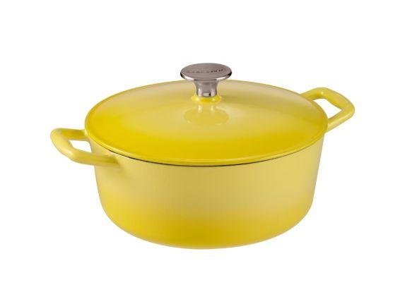 Cocotte ronde Lagostina Tuscan Collection, jaune, 4 pintes Image de l'article