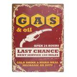Gas Last Chance Tin Sign