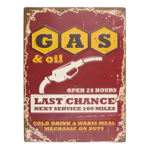 Gas Last Chance Tin Sign Product image
