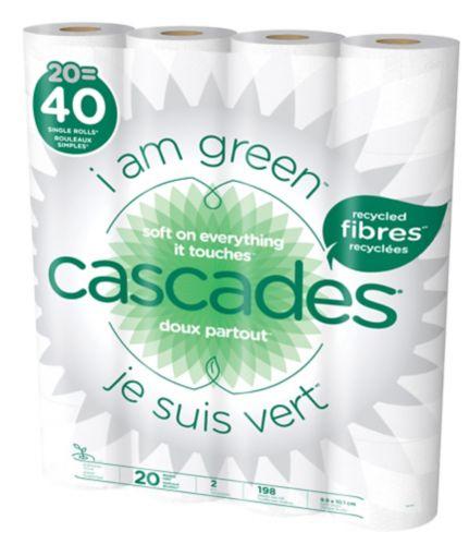 Papier hygiénique Cascades Premium, 2 épaisseurs, 20 rouleaux doubles Image de l'article