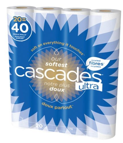 Cascades Ultra Double Toilet Paper, 2-ply 20-roll Product image