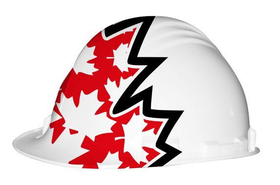 White Canadian Flag Hard Hat Product image