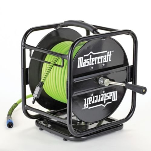 Mastercraft Air Hose Reel & Hose, 1/4-in x 100-ft Product image