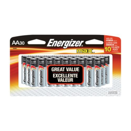 Energizer Max Batteries, AA, 30-pk Product image