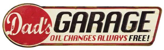 Metal Dad's Garage Sign Product image
