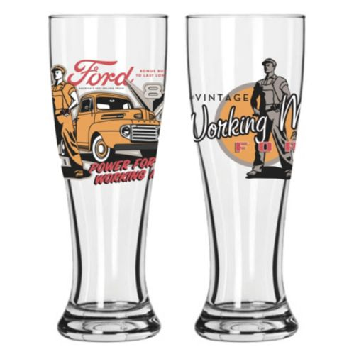 Set of 2 Pilsners, Vintage Ford Product image
