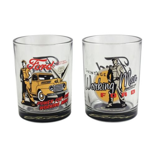 Set of 2 Scotch Glasses, Vintage Ford Product image