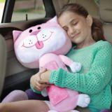 Coussin de ceinture Seat Pets, chat rose