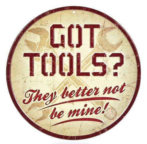 Metal Got Tools Sign Product image