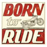 Plaque en métal Born to Ride