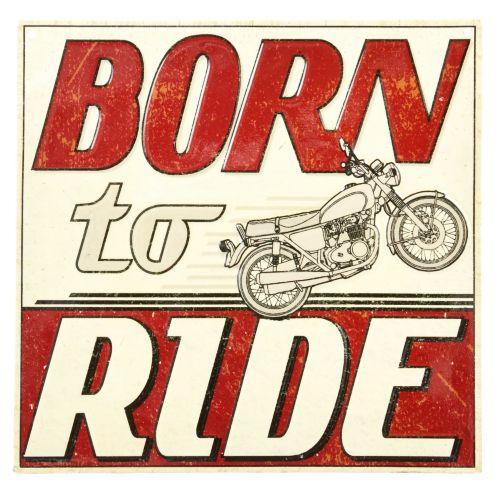 Plaque en métal Born to Ride Image de l'article