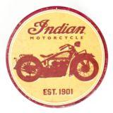 Plaque ronde en métal Indian
