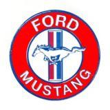 Plaque ronde en métal Ford Mustang   Mustangnull