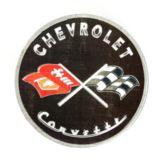 Metal Round Corvette Sign   Corvettenull