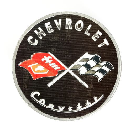 Metal Round Corvette Sign Product image