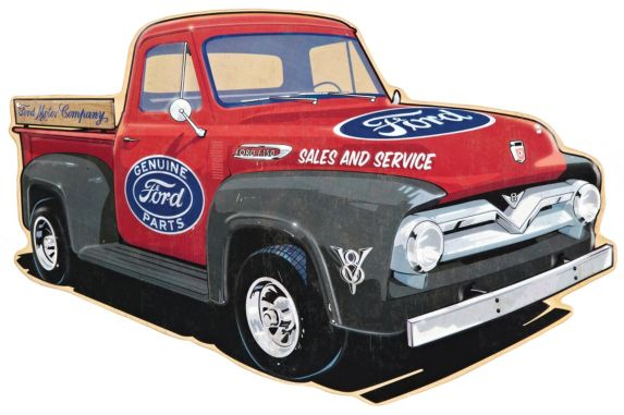 Metal Ford Truck Sign Product image