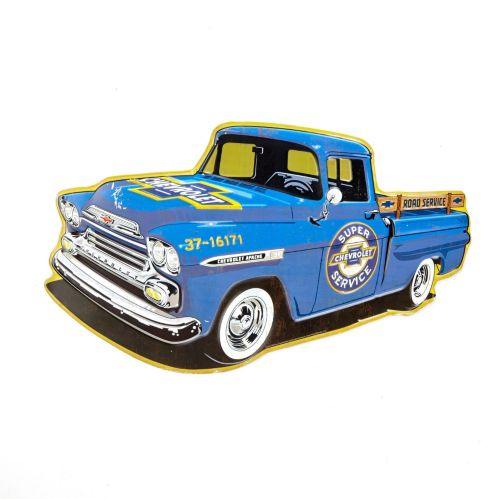 Plaque en métal camionnette Chevrolet Image de l'article