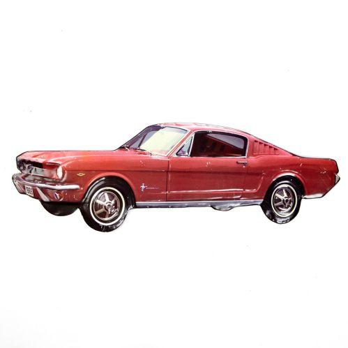 Plaque en métal voiture Mustang Image de l'article