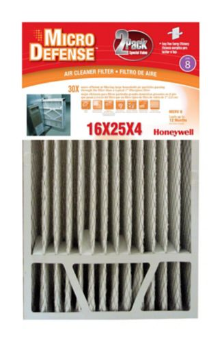 Honeywell Furnace Filter, 16x25x4-in, 2-pk Product image