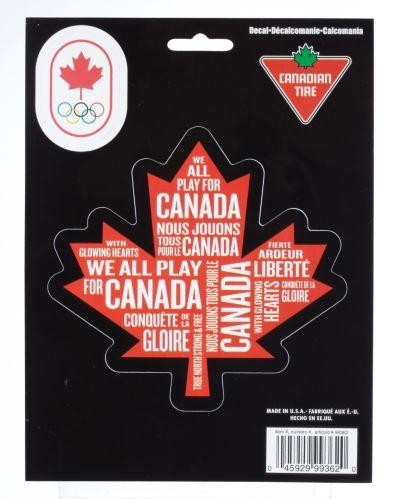 Feuille d'érable Équipe olympique canadienne, grande Image de l'article